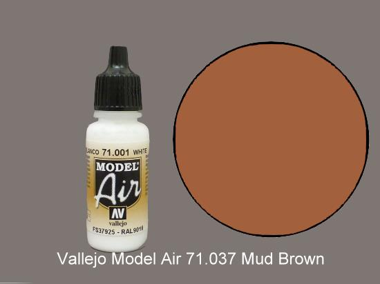 Vallejo 17ml MA037 Model Air - 037  Mud Brown