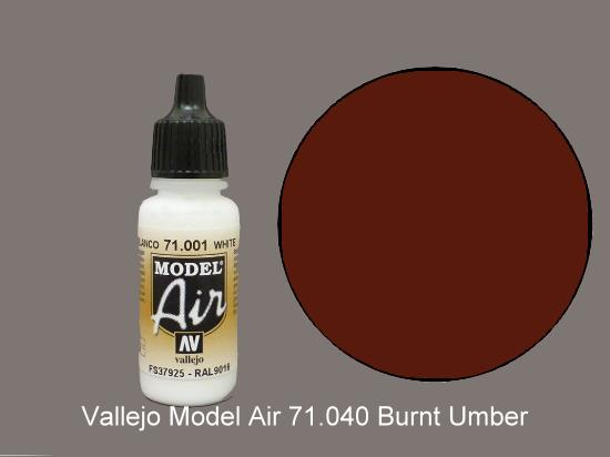 Vallejo 17ml MA040 Model Air - 040  Burnt Umber