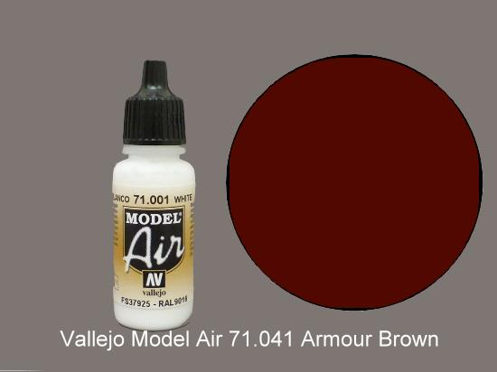Vallejo 17ml MA041 Model Air - 041  Tank Brown