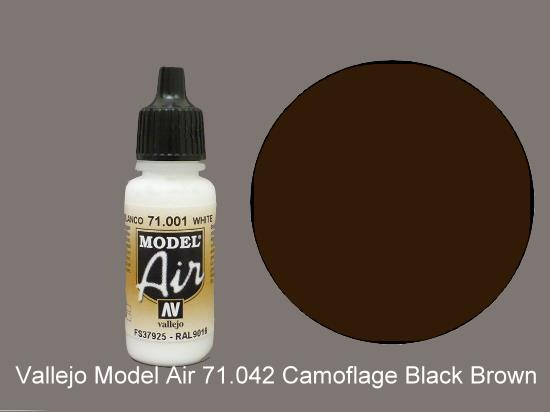 Vallejo 17ml MA042 Model Air - 042  Camouflage Black Brown