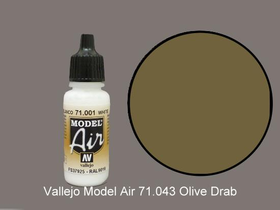 Vallejo 17ml MA043 Model Air - 043  Olive Drab