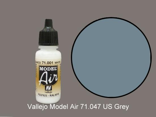 Vallejo 17ml MA047 Model Air - 047  US Grey