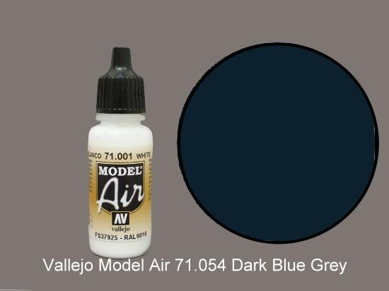 Vallejo 17ml MA054 Model Air - 054  Dark Grey Blue