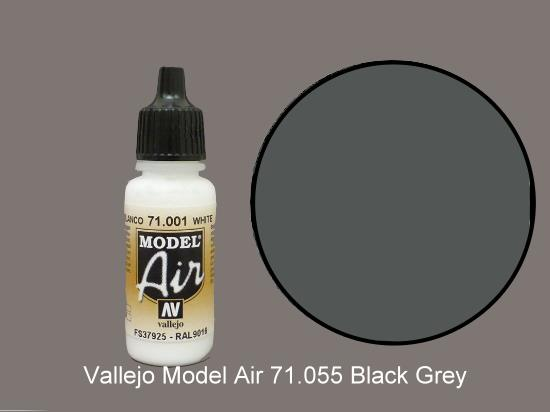 Vallejo 17ml MA055 Model Air - 055  Grey Green (Black Grey)