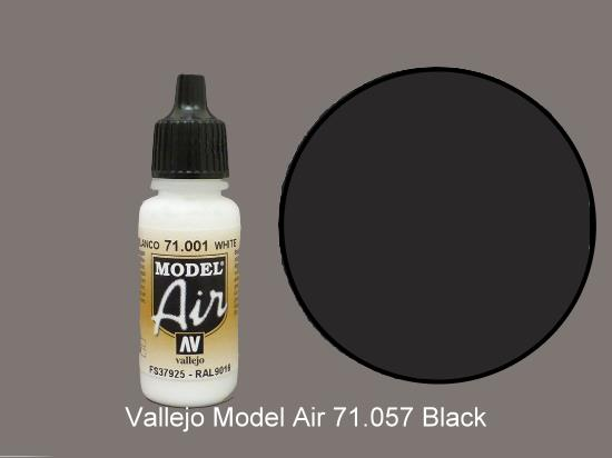 Vallejo 17ml MA057 Model Air - 057  Black