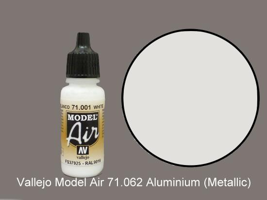 Vallejo 17ml MA062 Model Air - 062  Aluminium (Metallic)
