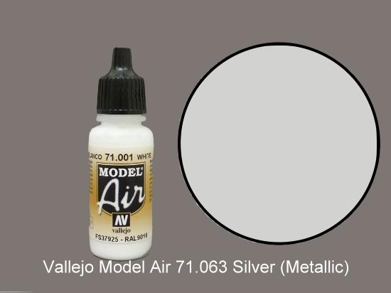 Vallejo 17ml MA063 Model Air - 063  Silver (Metallic)