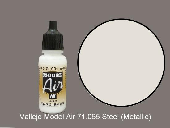 Vallejo 17ml MA065 Model Air - 065  Steel (Metallic)