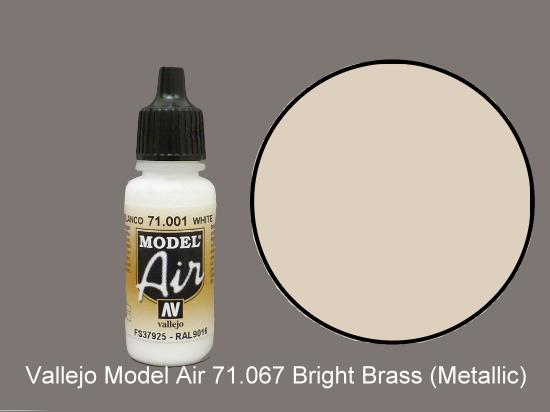 Vallejo 17ml MA067 Model Air - 067  Bright Brass (Metallic)