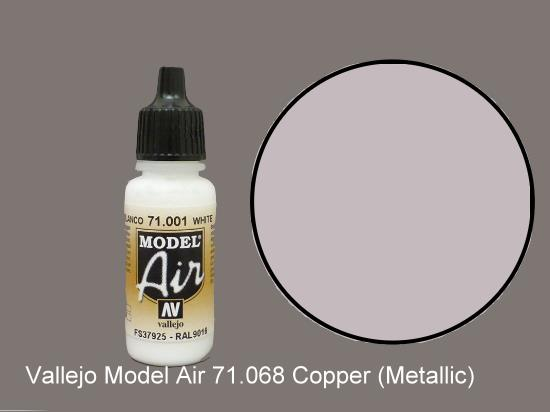 Vallejo 17ml MA068 Model Air - 068  Copper (Metallic)