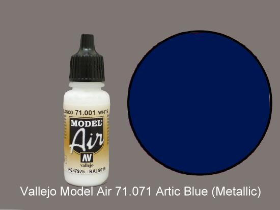 Vallejo 17ml MA071 Model Air - 071  Artic Blue (Metallic)