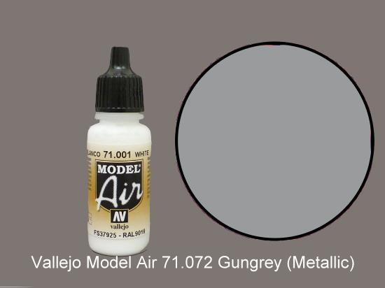 Vallejo 17ml MA072 Model Air - 072  Gun (Metallic)