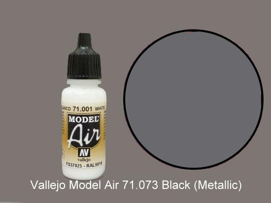 Vallejo 17ml MA073 Model Air - 073  Black (Metallic)