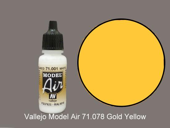 Vallejo 17ml MA078 Model Air - 078  Gold Yellow