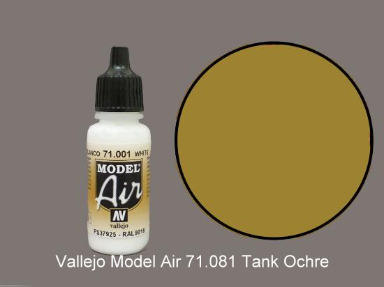 Vallejo 17ml MA081 Model Air - 081  Tank Dark Yellow 1943