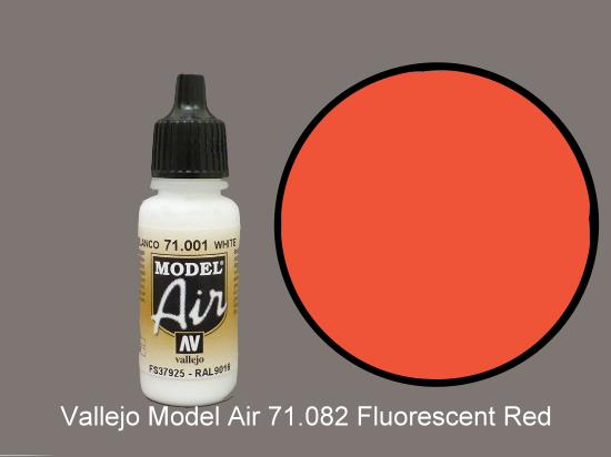 Vallejo 17ml MA082 Model Air - 082  Fluorescent Red