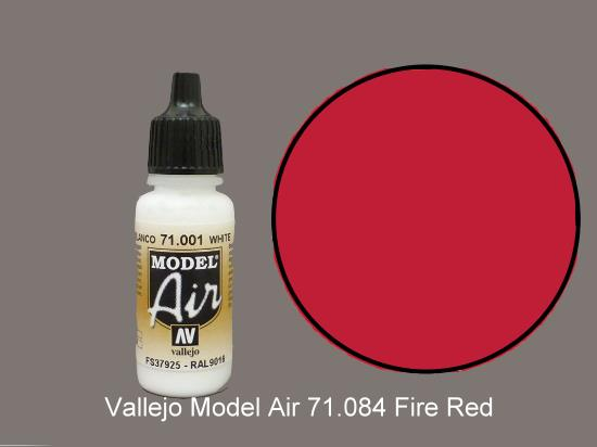Vallejo 17ml MA084 Model Air - 084  Fire Red