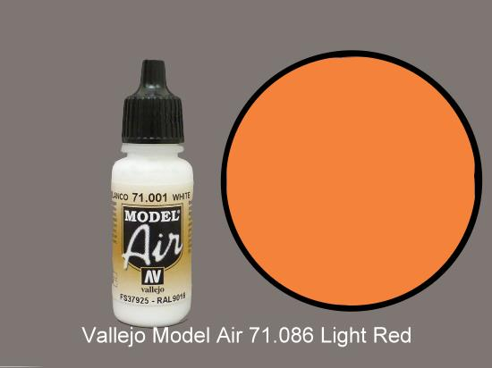 Vallejo 17ml MA086 Model Air - 086  Light Red