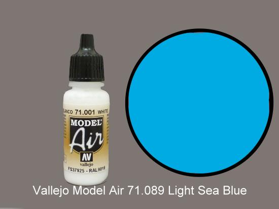 Vallejo 17ml MA089 Model Air - 089  Light Sea Blue