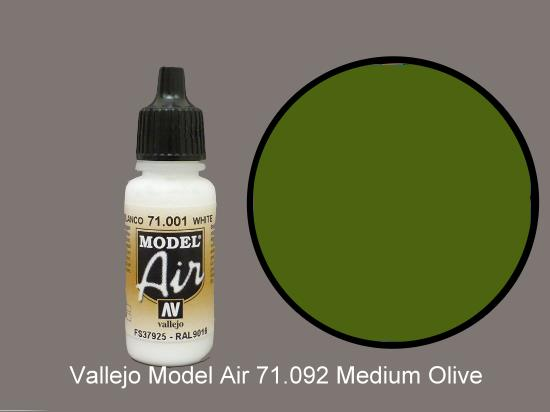 Vallejo 17ml MA092 Model Air - 092  Medium Green
