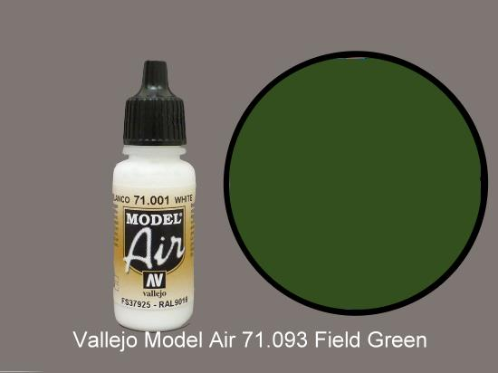 Vallejo 17ml MA093 Model Air - 093  Field Green