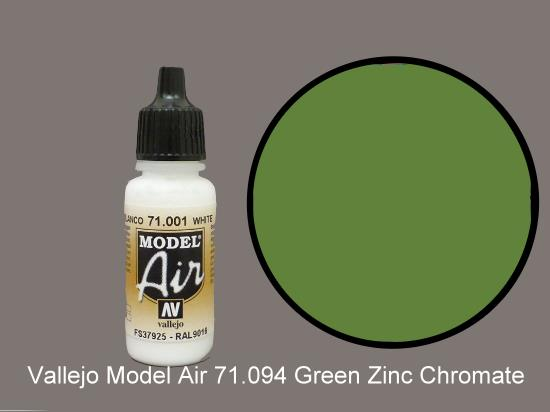 Vallejo 17ml MA094 Model Air - 094  Green Zinc Chromate