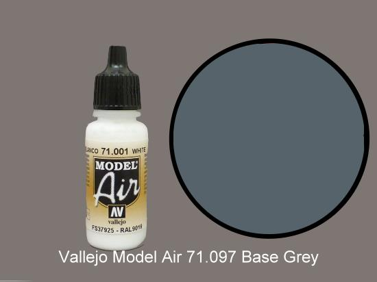 Vallejo 17ml MA097 Model Air - 097 Medium Gunship Grey