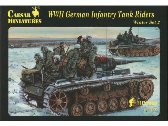 Caesar Miniatures 1/72 079 WWII German Infantry Tank Riders Winter Set 2