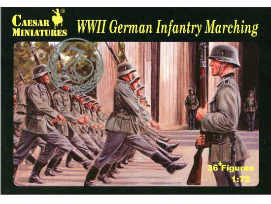 Caesar Miniatures 1/72 081 WWII German Infantry Marching