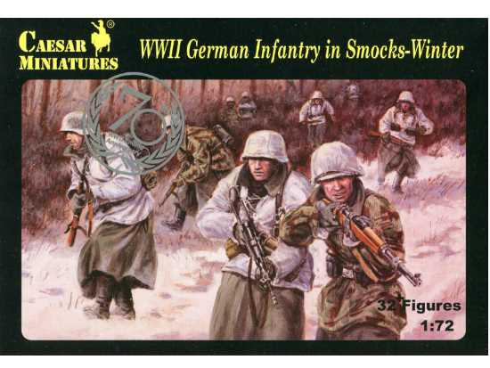 Caesar Miniatures 1/72 083 WWII German Infantry in Smocks - Winter