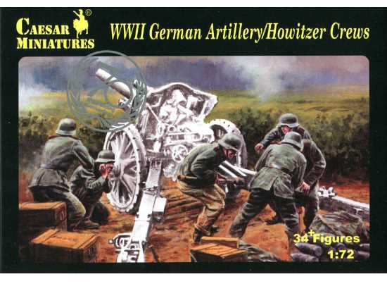 Caesar Miniatures 1/72 084 WWII German Artillery / Howitzer Crews