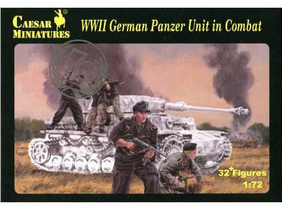 Caesar Miniatures 1/72 085 WWII German Panzer Unit in Combat