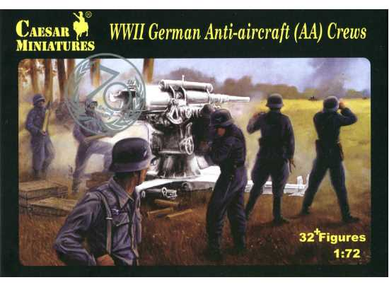 Caesar Miniatures 1/72 089 WWII German Anti-aircraft Crews