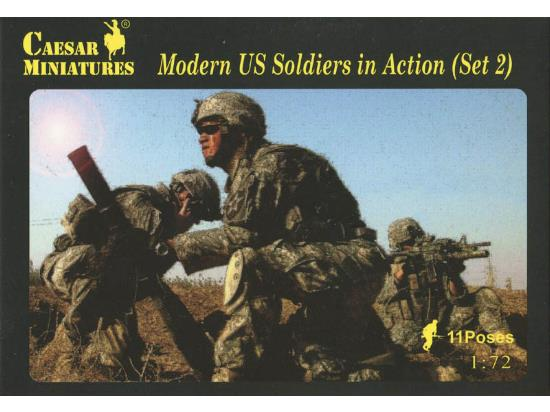 Caesar Miniatures 1/72 094 Modern US Soldiers in Action (Set 2)