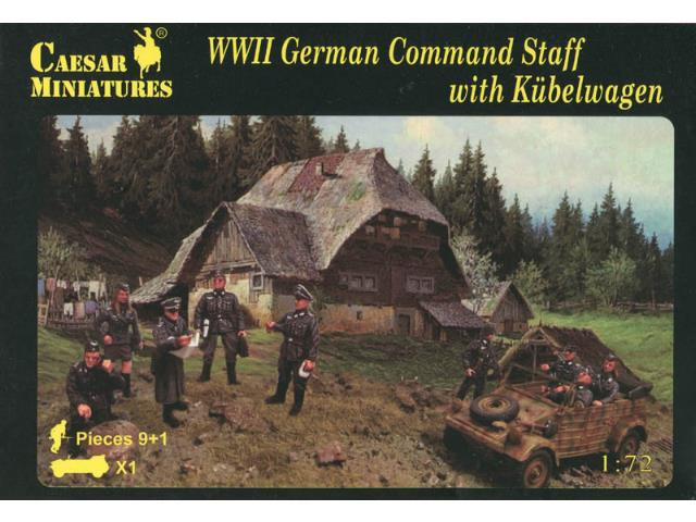 Caesar Miniatures 1/72 095 WWII German Command Staff with Kübelwagen