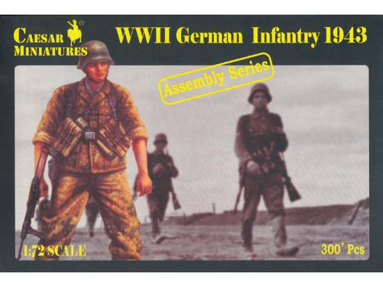 Caesar Miniatures 1/72 7711 WWII German Infantry 1943