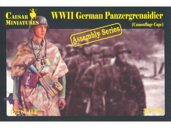 Caesar Miniatures 1/72 7717 WWII German Panzergrenadier wearing Camouflage Capes