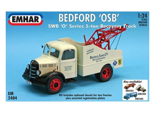 Emhar 1/24 2404 Bedford O Series SWB Recovery Truck