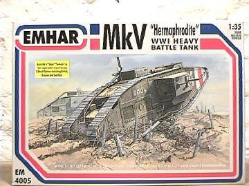 Emhar 1/35 4005 WWI MkV Heavy Battle Tank 'Hermaphrodite'