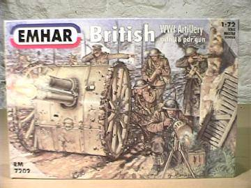 Emhar 1/72 7202 WWI British Artillery and 18 Pdr Gun