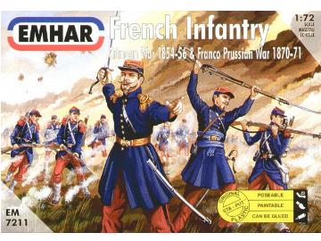 Emhar 1/72 7211 French Infantry Crimean & Franco Prussian Wars