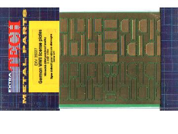 Extratech 1/35 V35027 Photoetch German WW2 registration No. plates