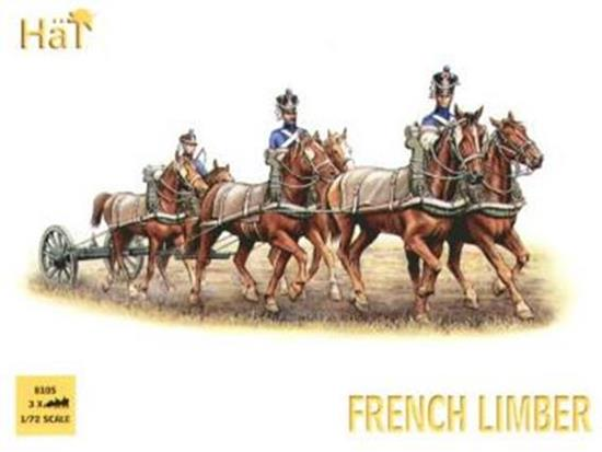 Hat 1/72 8105 French 6 Horse Limber