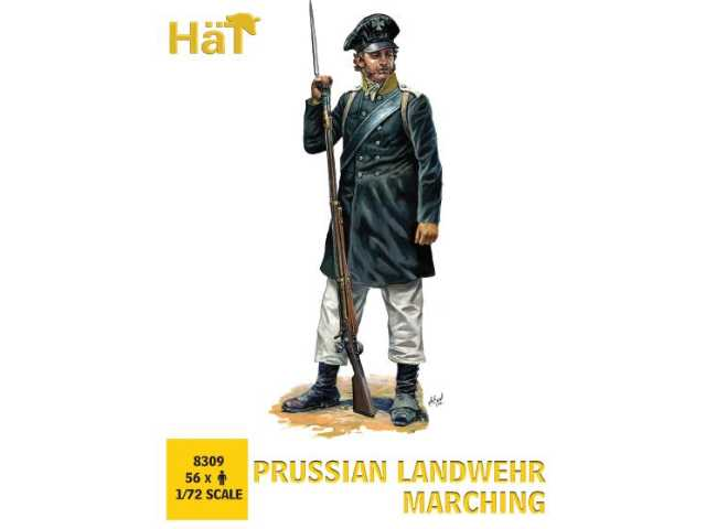 Hat 1/72 8309 Napoleonic Prussian Landwehr Marching