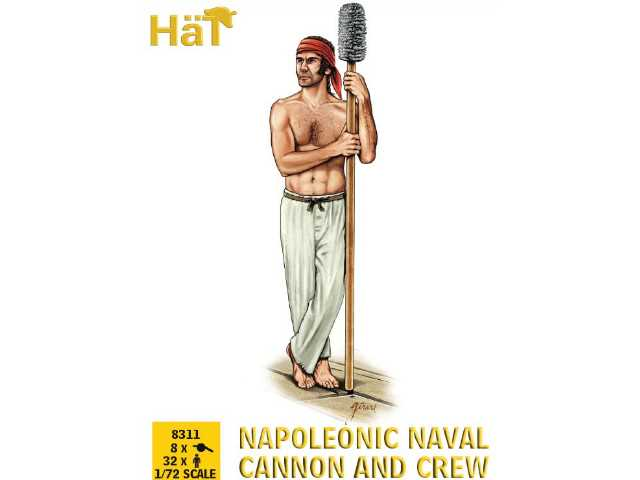 Hat 1/72 8311 Napoleonic Naval Cannon and Crew