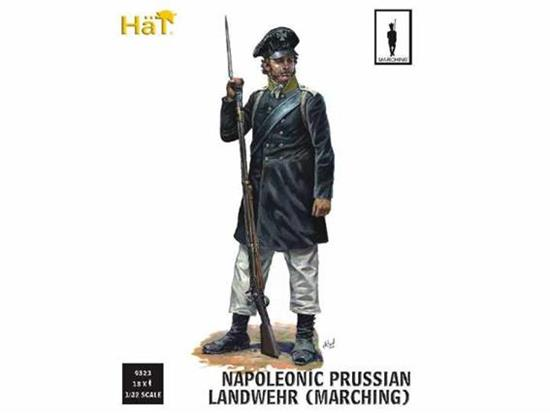 Hat 1/32 9323  Napoleonic Prussian Landwehr Marching