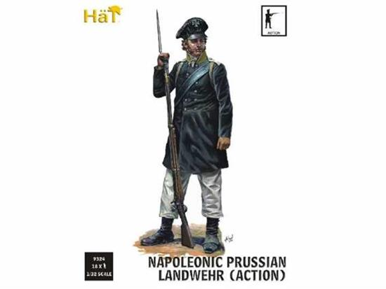 Hat 1/32 9324 Napoleonic Prussian Landwehr in Action