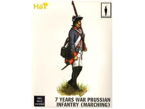 Hat 1/32 9401 7 Years War Prussian Infantry Marching