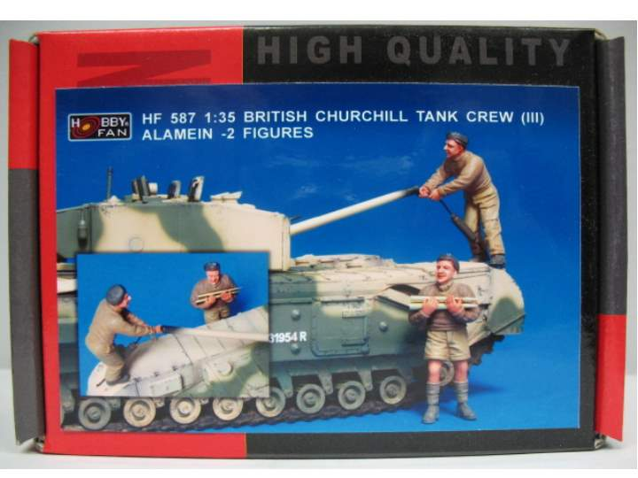 Hobby Fan 1/35 587 British Churchill Tank Crew (III) Alamein - 2 Figures