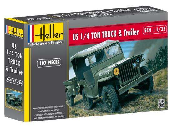 Heller - Jeep Willys and Trailer 1/35 #81105